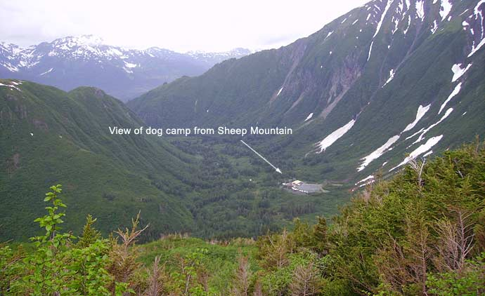 View of Dog Camp from Sheep Mountain