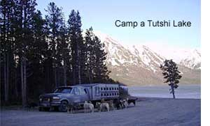Camp at Tutshi Lake
